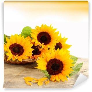 Vinylová Fototapeta Sun And Flowers
