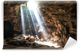 Vinylová Fototapeta Sun Light v jeskyni