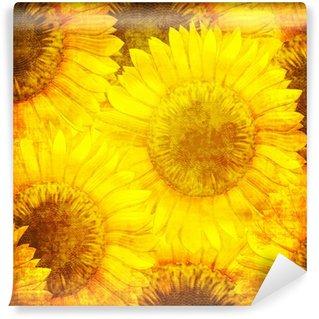 Vinylová Fototapeta Sunflower vzor ve stylu grunge