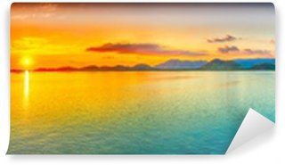 Vinylová Fototapeta Sunset panorama