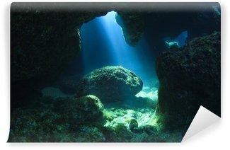 Vinylová Fototapeta Sunshine v podvodním jeskyně