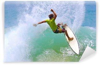 Vinylová Fototapeta Surfař bít vlna lip vytváří vodní clony sprej