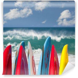 Vinylová Fototapeta Surfovací prkna na pláži Lumahai Kauai