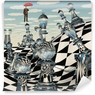 Vinylová Fototapeta Surreal Chess krajina