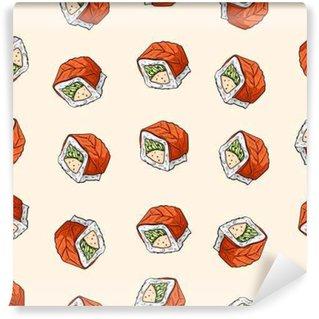 Fototapeta Vinylowa Sushi, bez szwu wzór