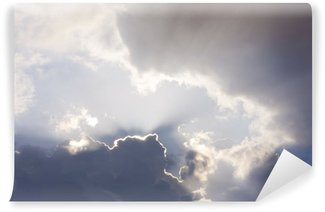 Vinylová Fototapeta Světlé a tmavé mraky