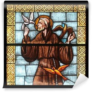 Fototapeta Vinylowa Święty Franciszek z Asyżu, kościół w Porto Azzurro, Elba, Włochy