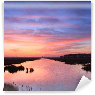 Fototapeta Winylowa Świt nad rzeką spokojne