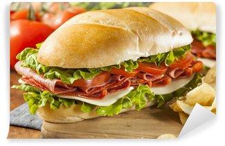 Fototapeta Winylowa Swojski włoski Sub Sandwich