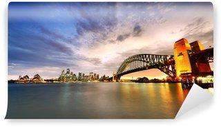 Vinylová Fototapeta Sydney Harbor Panorama za soumraku