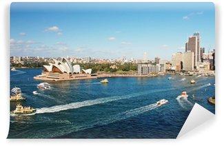 Vinylová Fototapeta Sydney Opera House s ferrys v foregournd