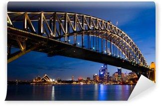 Vinylová Fototapeta Sydney v noci