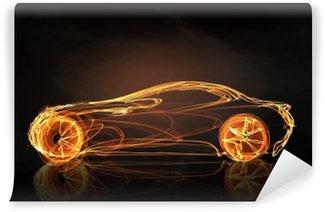 Fototapeta Winylowa Symbol światła samochodów