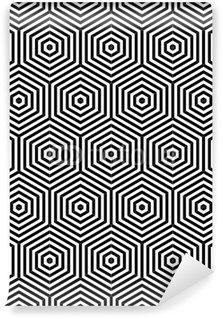 Fototapeta Winylowa Sześciokąty bezszwowych tekstur. geometryczny wzór.