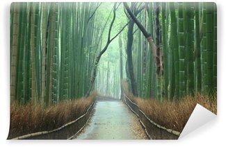 Fototapeta Winylowa Szlak las bambusowy