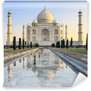 Vinylová Fototapeta Taj Mahal, při východu slunce