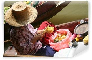 Fototapeta Winylowa Tajlandia pływający targ