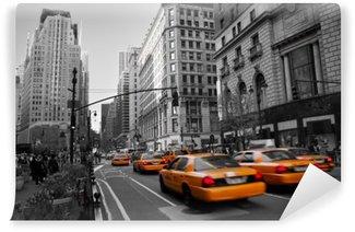 Fototapeta Winylowa Taksówki na Manhattanie