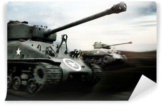 Vinylová Fototapeta Tankový boj