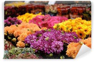Fototapeta Winylowa Targ kwiatowy w Amsterdamie