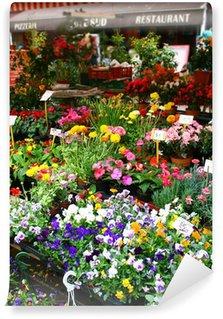 Fototapeta Winylowa Targ kwiatowy w Nicei