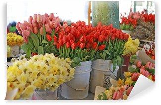 Fototapeta Winylowa Targ kwiatowy