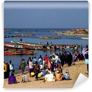 Fototapeta Winylowa Targ rybny ma Mbour Senegal