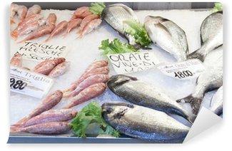 Fototapeta Winylowa Targ rybny w pobliżu Rialto, Venice