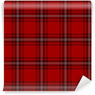 Vinylová Fototapeta Tartan, skotský, červená
