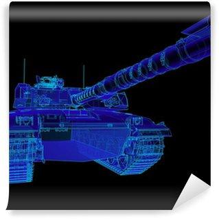 Vinylová Fototapeta Technické ilustrace Challenger hlavní bitevní tank.