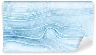 Fototapeta Vinylowa Tekstury lodu na zamarzniętym jeziorze.