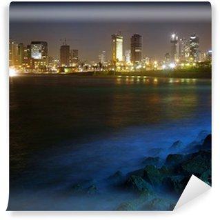 Vinylová Fototapeta Tel Aviv. Noční pohled z Jaffy
