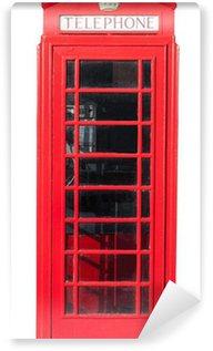 Fototapeta Vinylowa Telefon Red Box na białym tle