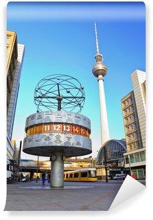 Vinylová Fototapeta Televizní věž a světový čas na Alexanderplatz, Berlín, Německo