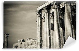 Vinylová Fototapeta Temple olympionika Zeus a Akropole v Athénách