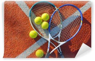 Vinylová Fototapeta Tenis, tenisový míček, zázemím.