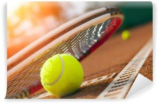 Vinylová Fototapeta Tenisový míč na tenisový kurt