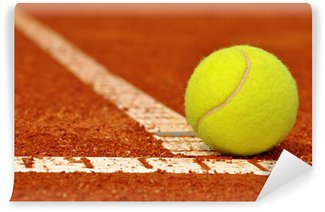 Vinylová Fototapeta Tenisový míček na tenisovém jílu