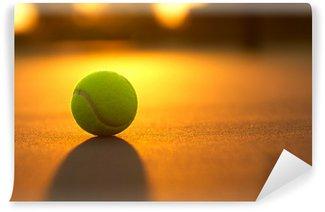 Vinylová Fototapeta Tenisový míček při západu slunce
