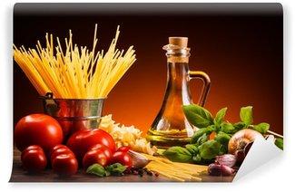 Vinylová Fototapeta Těstoviny a čerstvou zeleninou