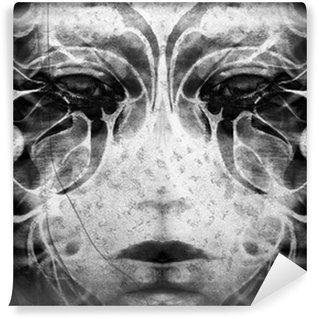 Vinylová Fototapeta Tetování žena tvář