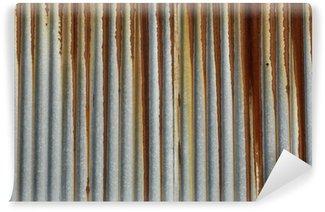 Vinylová Fototapeta Textura kovu, rezavý vlnitý plech