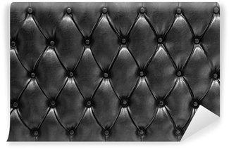 Vinylová Fototapeta Textury na pozadí Cuero polstrovaný černý Typ Chesterfield