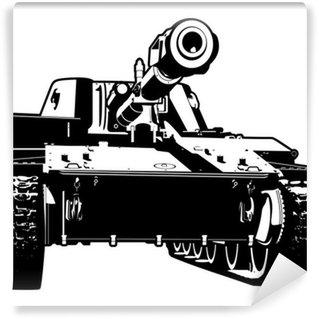 Vinylová Fototapeta Těžký tank
