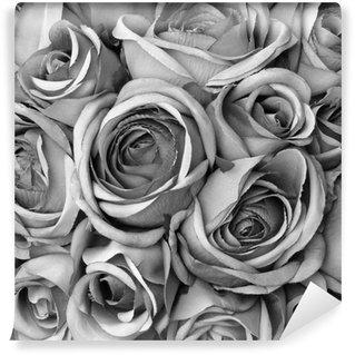 Fototapeta Winylowa Tło z róż w czerni i bieli