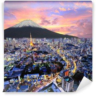 Vinylová Fototapeta Tokio a Fuji
