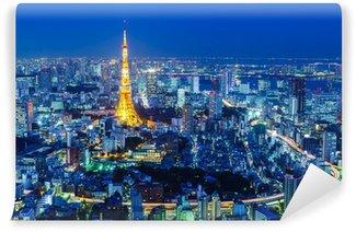 Vinylová Fototapeta Tokyo noc