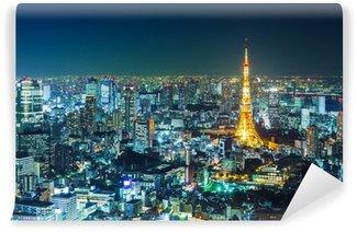 Vinylová Fototapeta Tokyo panorama v noci