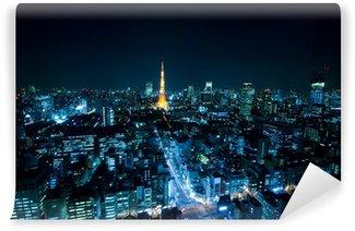 Vinylová Fototapeta Tokyo Tower a noční pohled na Tokio