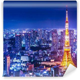 Vinylová Fototapeta Tokyo Tower a Skyline